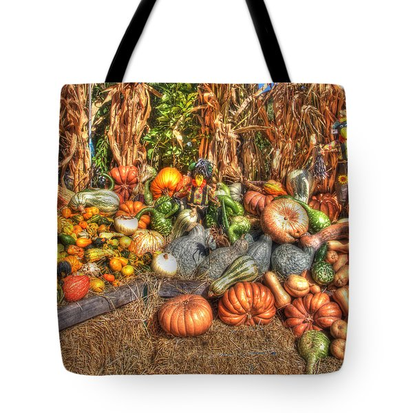 Scenes of the Season Tote Bag by Joann Vitali