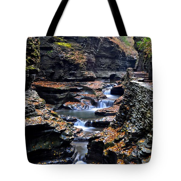 Scenic Cascade Tote Bag by Frozen in Time Fine Art Photography