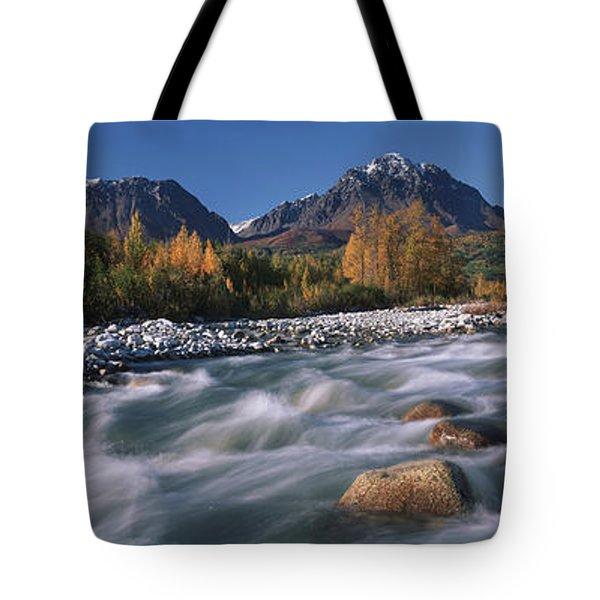 Scenic Of Granite Creek In Autumn Sc Tote Bag by Calvin Hall