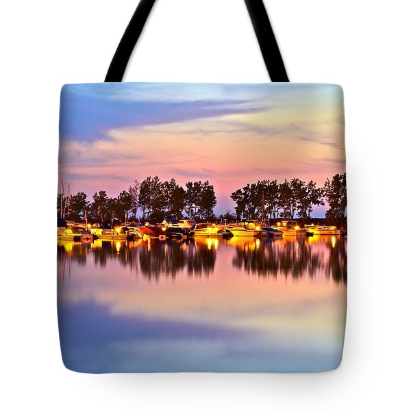 Scenic Sunset Tote Bag by Frozen in Time Fine Art Photography