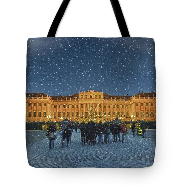 Schonbrunn Christmas Market Tote Bag by Joan Carroll