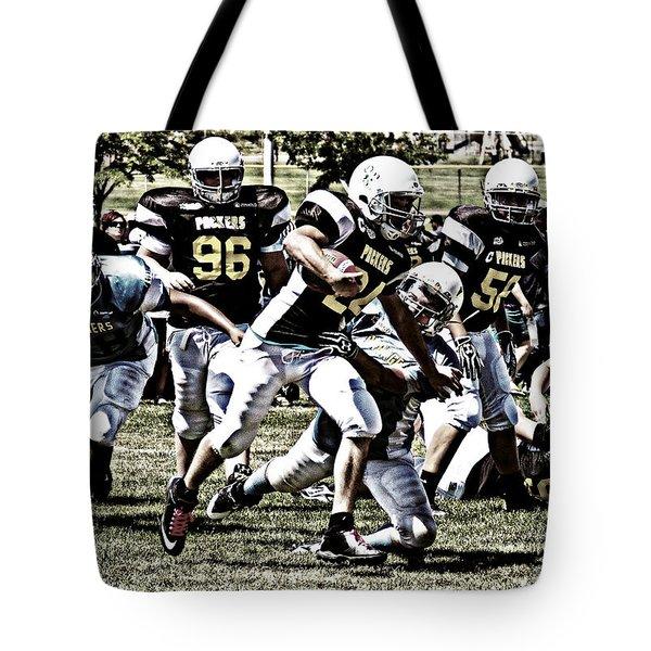School Boy Right Tote Bag by Bob Hislop