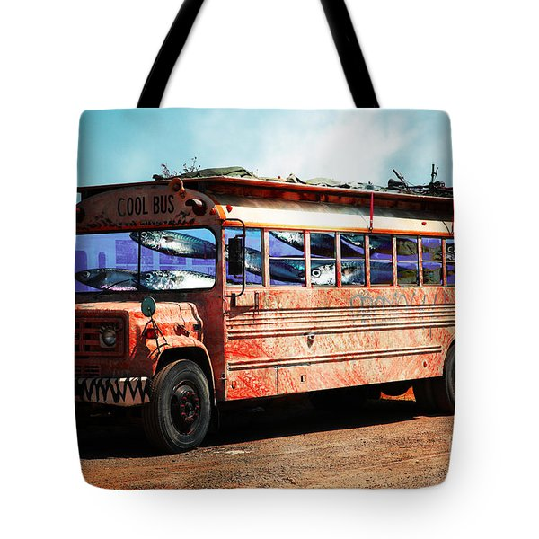 School Bus 5D24927 Tote Bag by Wingsdomain Art and Photography