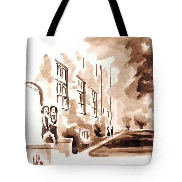 School Days At Ursuline Tote Bag by Kip DeVore
