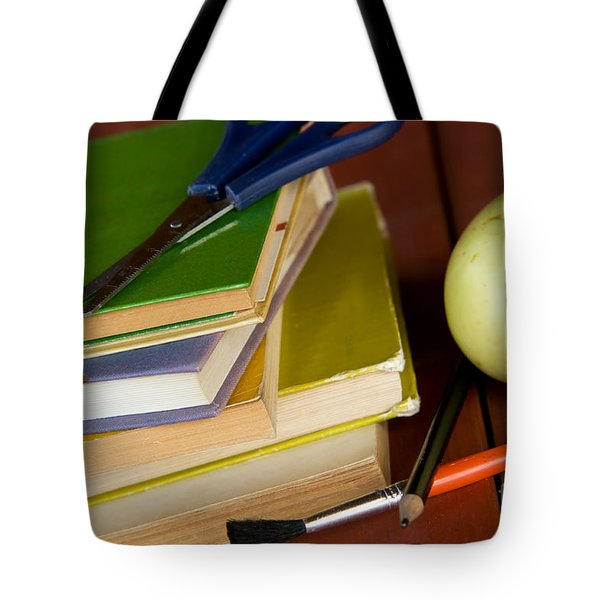 School Equipment Tote Bag by Michal Bednarek