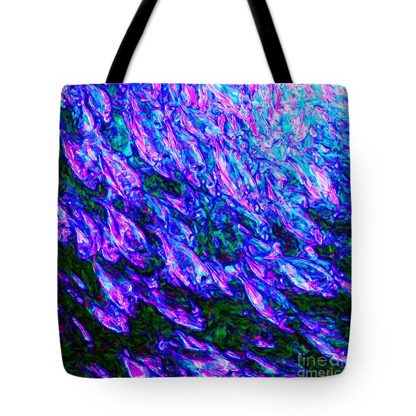 School Of Fish - Square Tote Bag by Wingsdomain Art and Photography