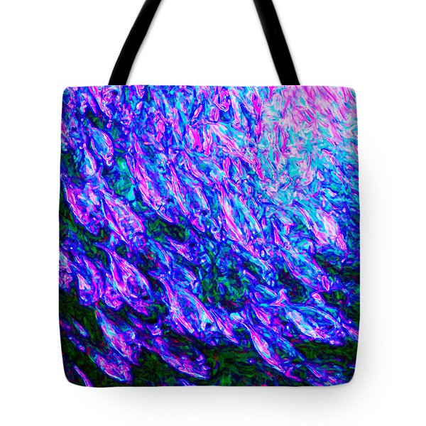 School of Fish Tote Bag by Wingsdomain Art and Photography