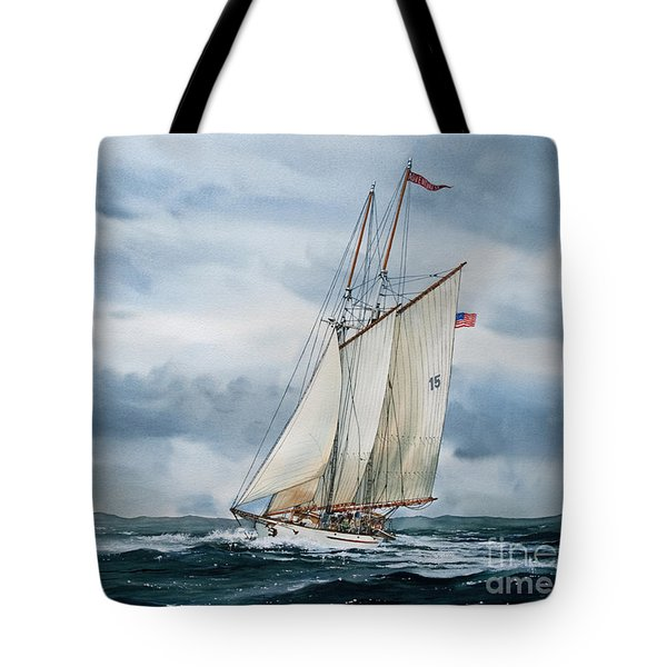 Schooner Adventuress Tote Bag by James Williamson