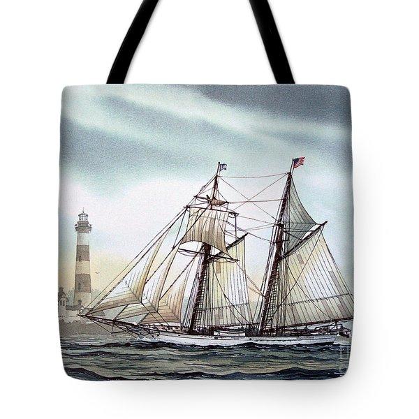 Schooner Light Tote Bag by James Williamson