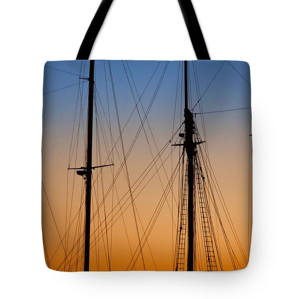 Schooner Masts Martha's Vineyard Tote Bag by Carol Leigh
