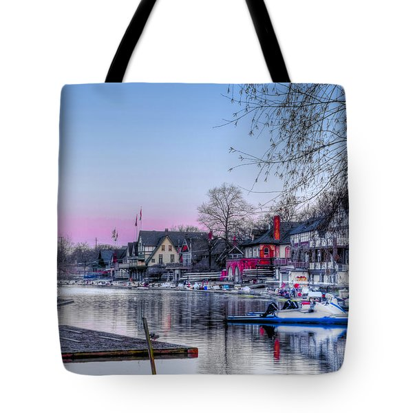 Schuylkill River and Boathouse Row Philadelphia Tote Bag by Bill Cannon