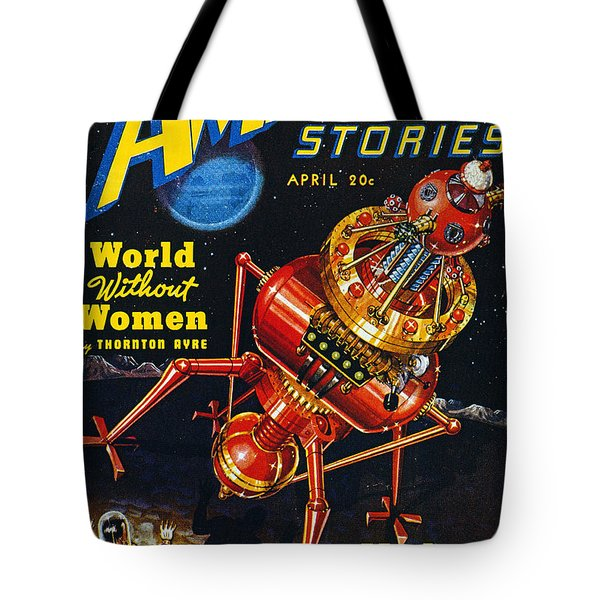 Science Fiction Cover, 1939 Tote Bag by Granger
