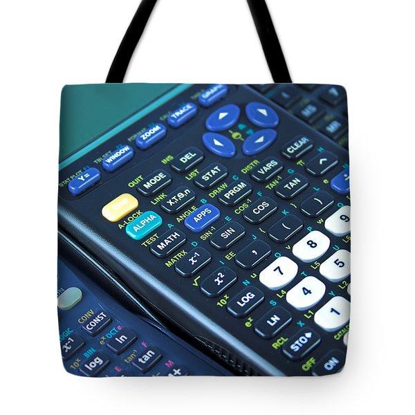 Scientific Calculators Tote Bag by Jose Elias - Sofia Pereira
