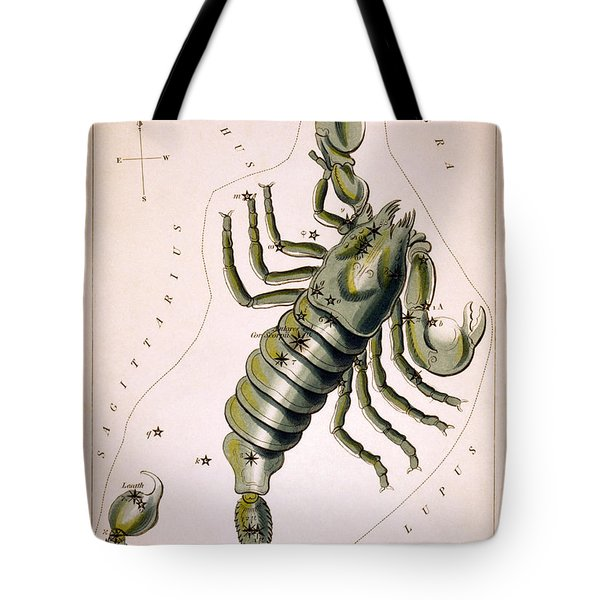Scorpio Constellation  1825 Tote Bag by Daniel Hagerman