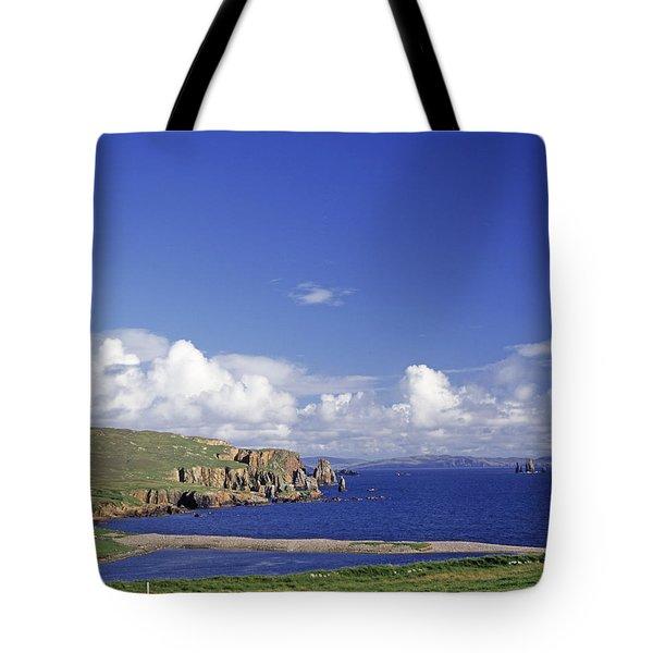 Scotland Shetland Islands Eshaness Cliffs Tote Bag by Anonymous