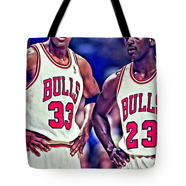 Scottie and Michael Tote Bag by Florian Rodarte