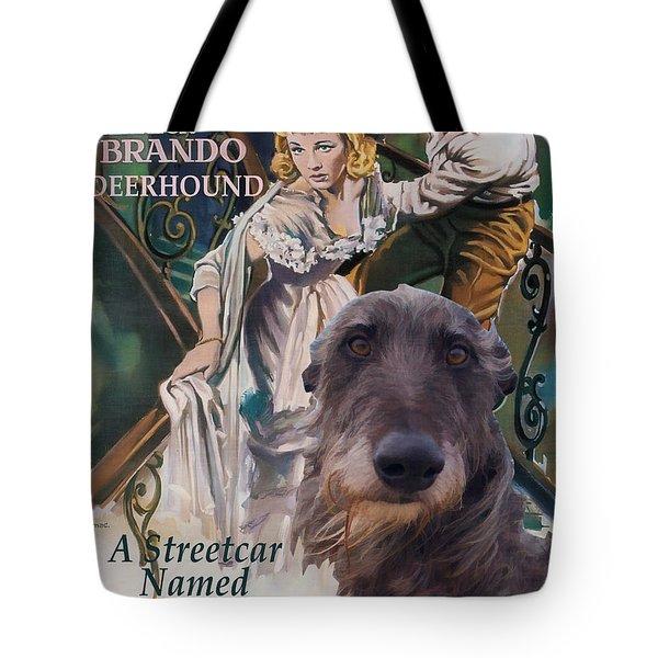 Scottish Deerhound Art - A Streetcar Named Desire Tote Bag by Sandra Sij