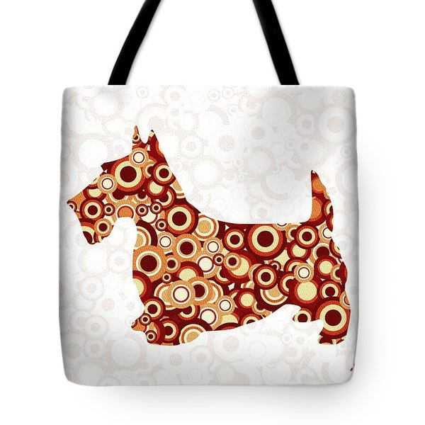 Scottish Terrier - Animal Art Tote Bag by Anastasiya Malakhova
