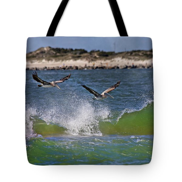 Scouting for a Catch Tote Bag by Betsy C  Knapp