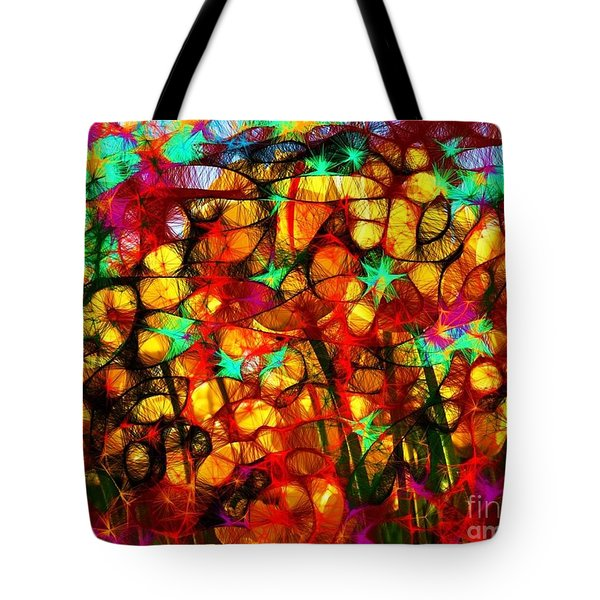 Scribble Flowers Tote Bag by Elizabeth McTaggart