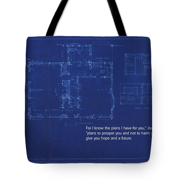 Scripture And Picture Jeremiah 29 11 Tote Bag by Ken Smith