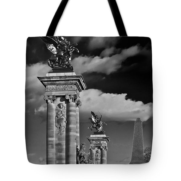 Sculptures of Paris Tote Bag by Mountain Dreams