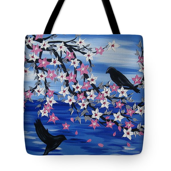 Sea Blossoms Tote Bag by Cathy Jacobs