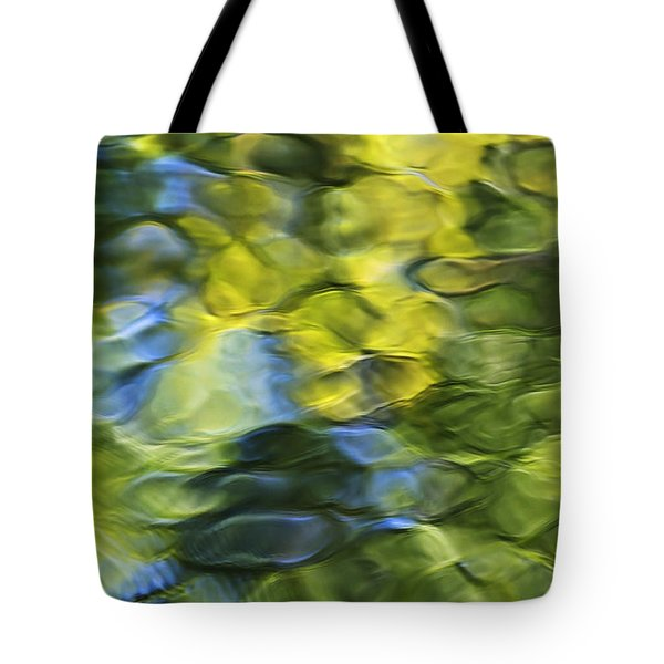 Sea Breeze Mosaic Abstract Art Tote Bag by Christina Rollo
