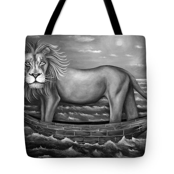 Sea Lion In Bw Tote Bag by Leah Saulnier The Painting Maniac