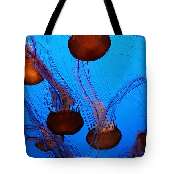 Sea Nettle Jelly Fish 5D25075 Tote Bag by Wingsdomain Art and Photography