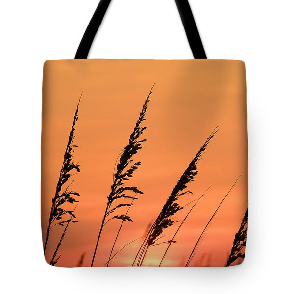 Sea Oat Sunset Tote Bag by JC Findley