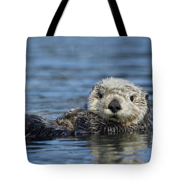 Sea Otter Alaska Tote Bag by Michael Quinton