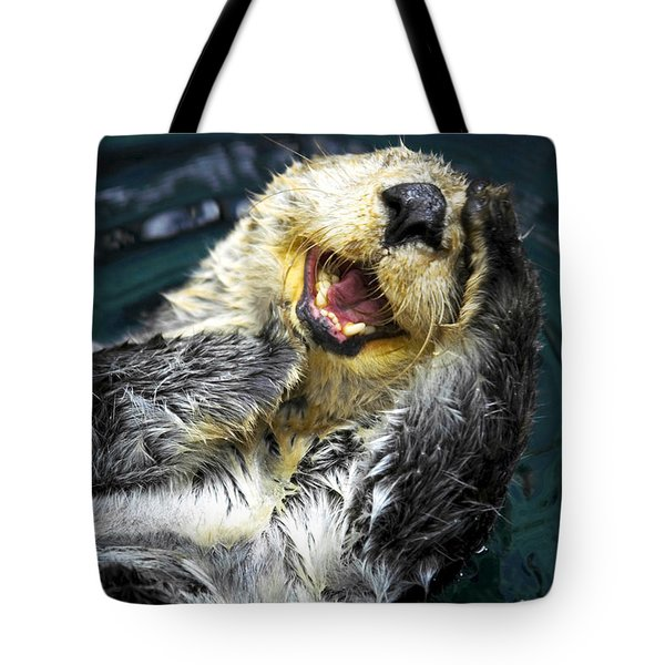 Sea Otter  Tote Bag by Fabrizio Troiani