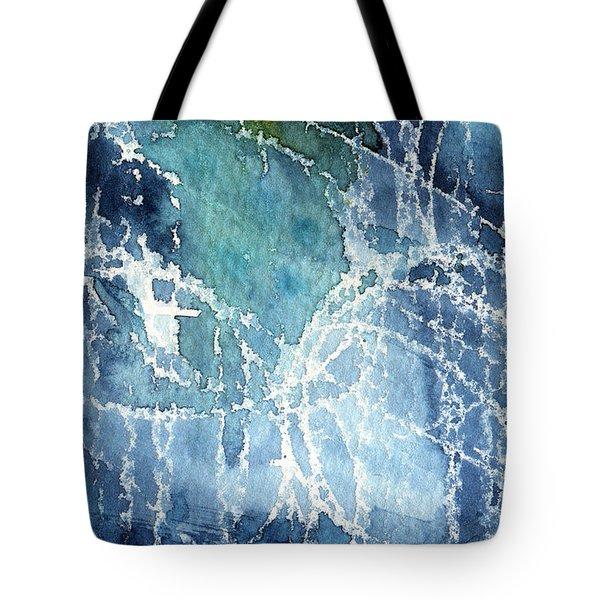 Sea Spray Tote Bag by Linda Woods