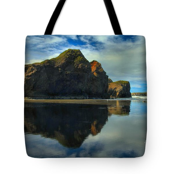 Sea Stack Swirls Tote Bag by Adam Jewell