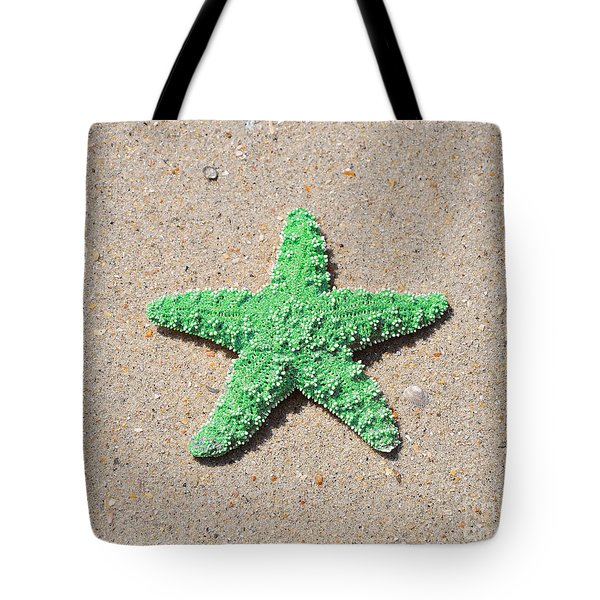 Sea Star - Green Tote Bag by Al Powell Photography USA