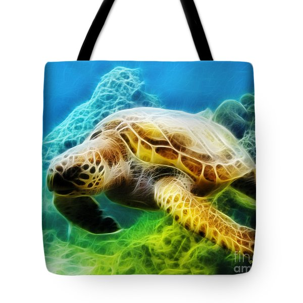 Sea Turtle 1 Tote Bag by Cheryl Young