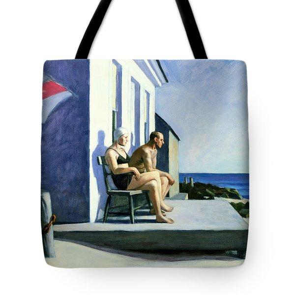 Sea Watchers Tote Bag by Edward Hopper
