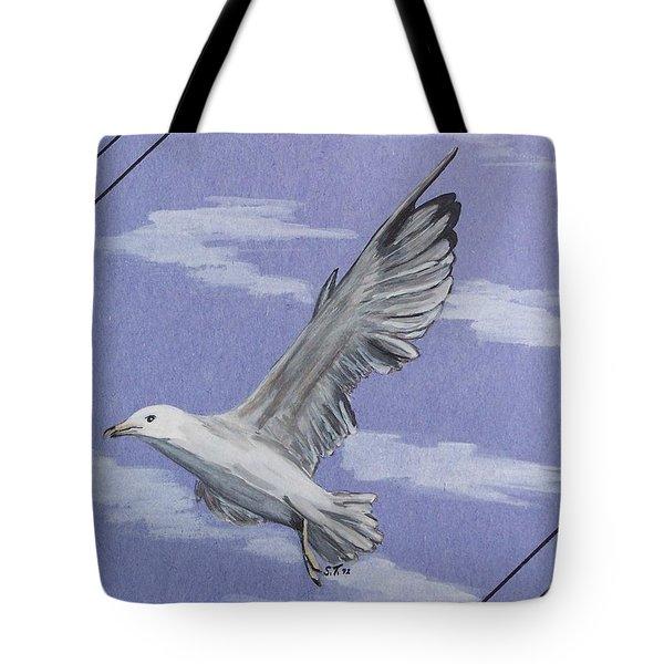Seagull Tote Bag by Susan Turner