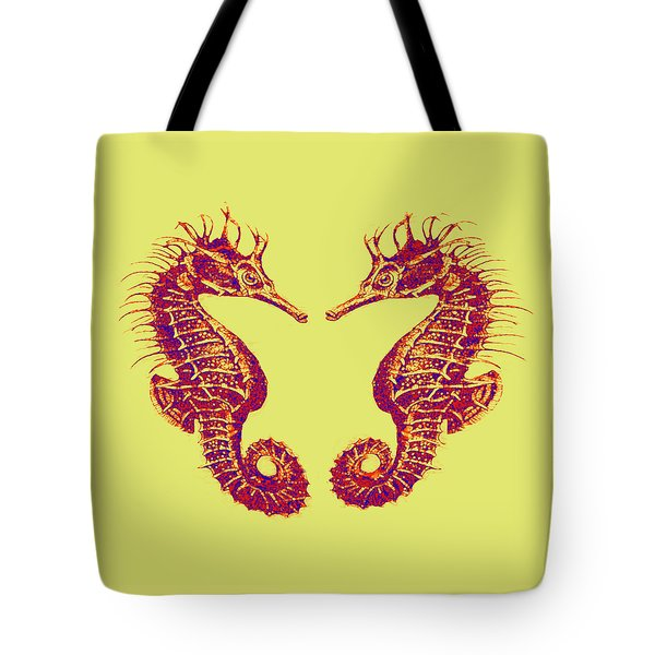 Seahorses In Love Tote Bag by Jane Schnetlage