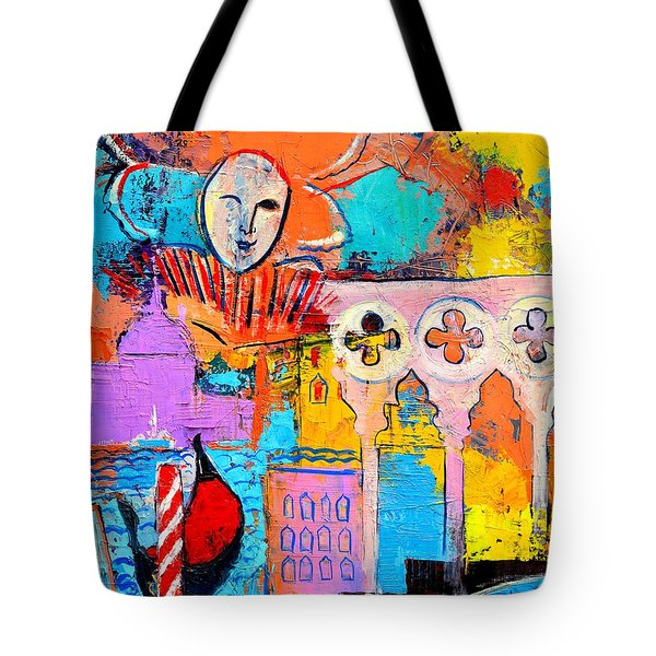 SEARCH OF LOST TIME IN VENICE Tote Bag by ANA MARIA EDULESCU