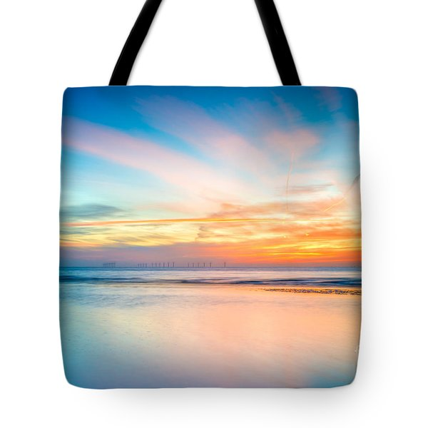 Seascape Sunset Tote Bag by Adrian Evans