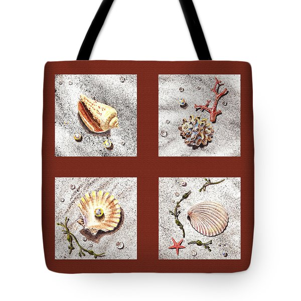 Seashell Collection Iv Tote Bag by Irina Sztukowski