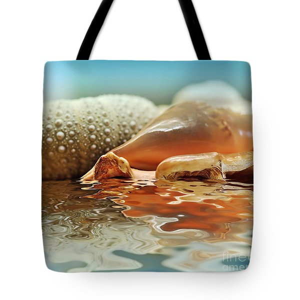 Seashell Reflections on Water Tote Bag by Kaye Menner
