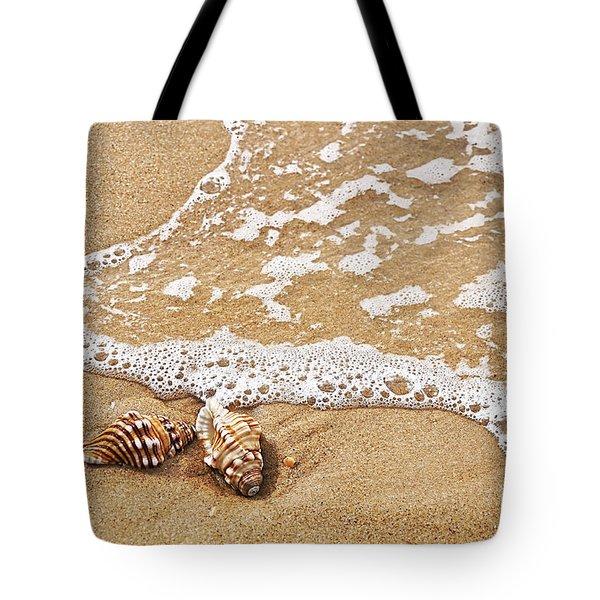Seashells And Lace Tote Bag by Kaye Menner