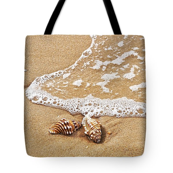 Seashells And Lace Tote Bag by Kaye Menner