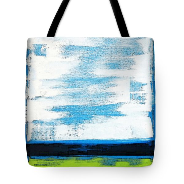 Seaside - Abstract Modern Art By Sharon Cummings Tote Bag by Sharon Cummings