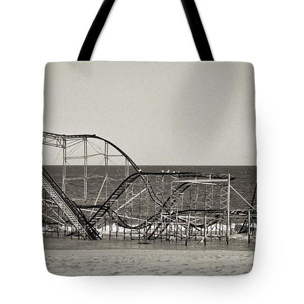 Seaside After Sandy Tote Bag by Mark Miller