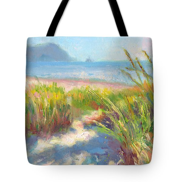 Seaside Afternoon Tote Bag by Talya Johnson