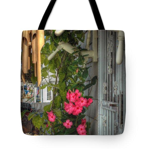 Seaside Porch Tote Bag by Joann Vitali